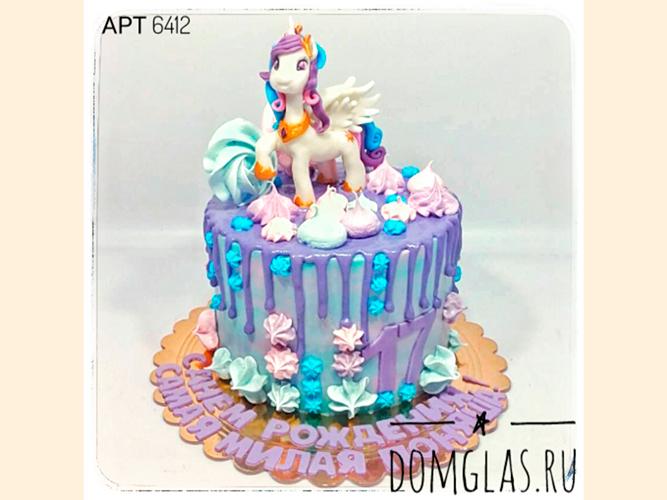 детский с единорожком на торте