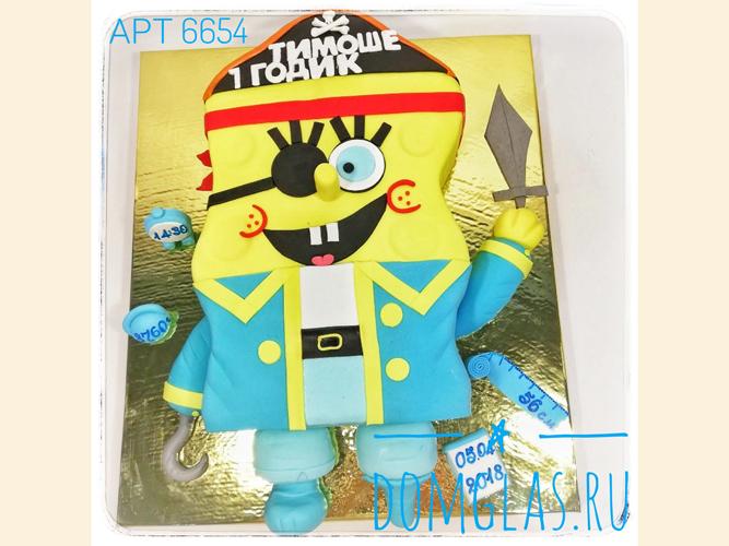 детский Губка Боб-пират 3d