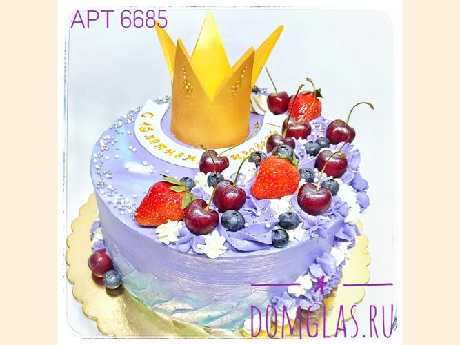 детский с короной и ягодами