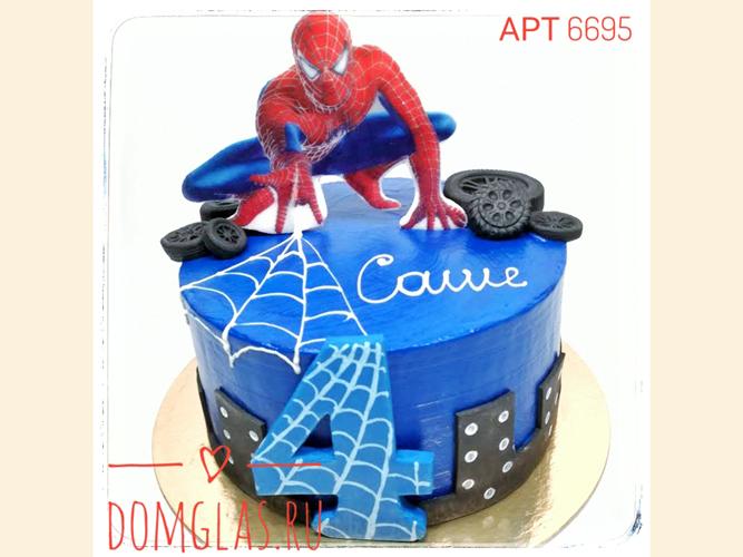 детский со Спайдерменом на торте