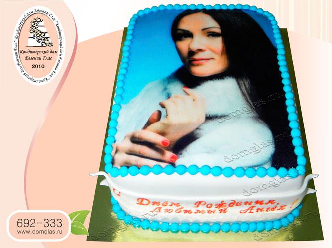 торт женский фотопечать портрет