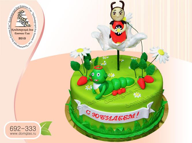 торт женский летняя поляна с персонажами