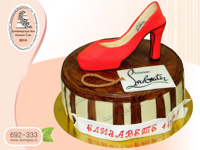 торт женский коробка с лабутенами