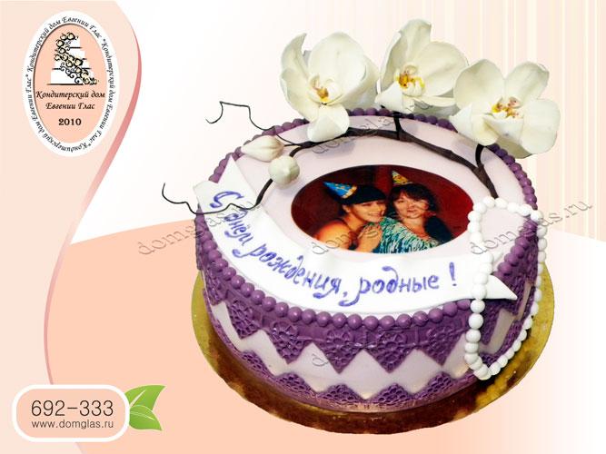 торт женский фотография цветы вишни