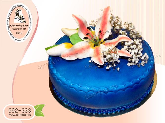 торт женский цветок лилия