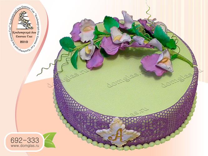 торт женский цветы ветка