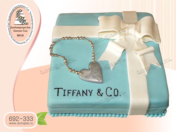 торт женский колье коробка с подарком бант