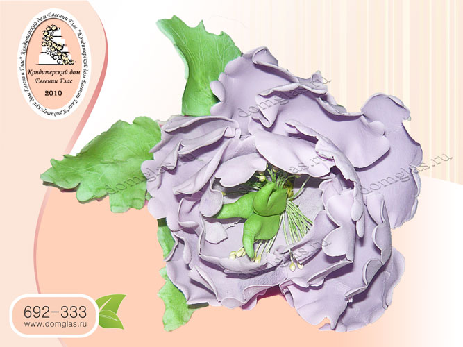 торт женский большой цветок пион