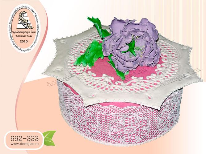 торт женский цветок пион
