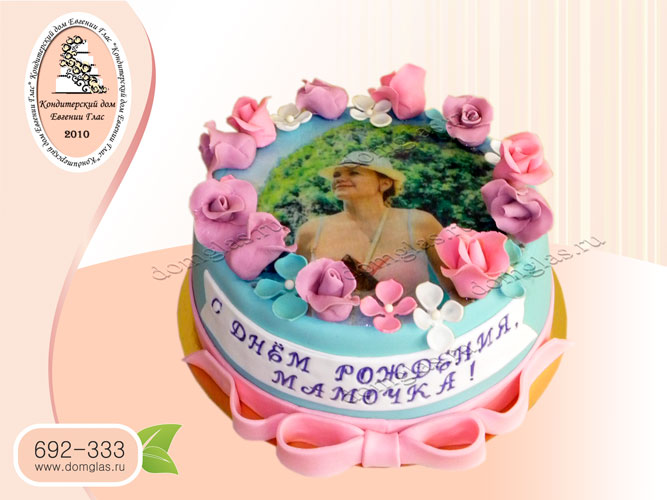 торт женский цветы розы фотография бант