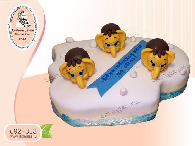 торт женский маме три мамонтенка