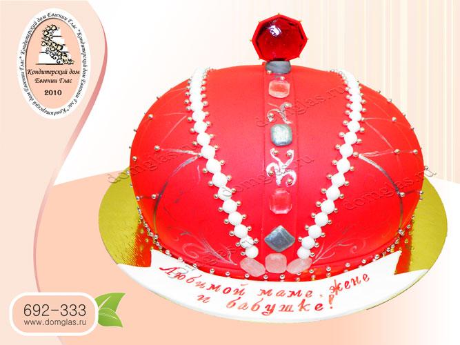 торт женский корона