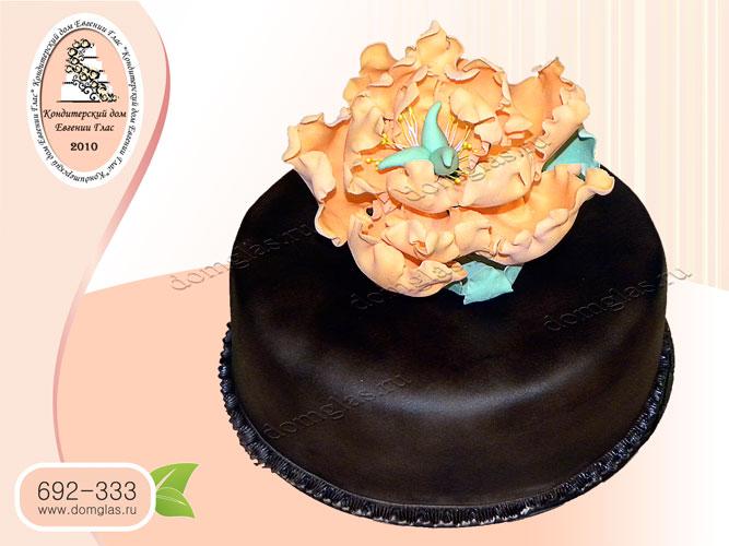торт женский цветок пион шоколад