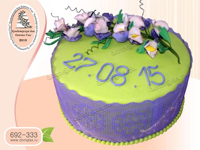 торт женский веточка цветов