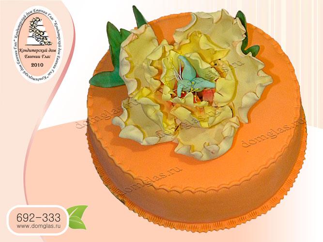торт женский цветок