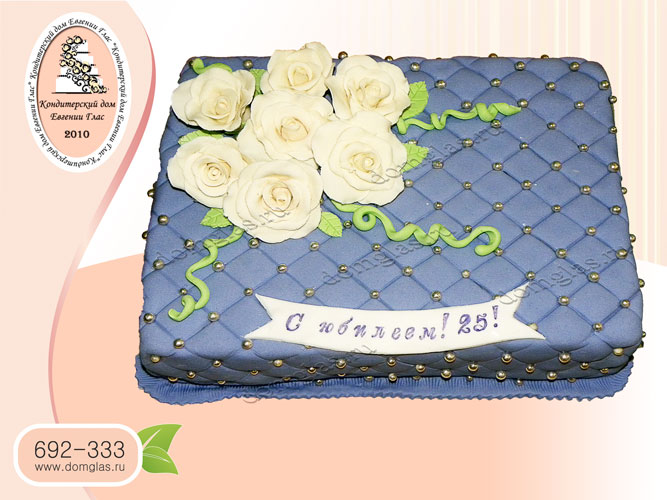 торт женский юбилей розы подушка