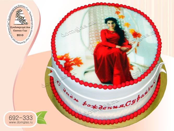торт женский фотография женщина в красном