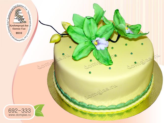 торт женский цветы калы