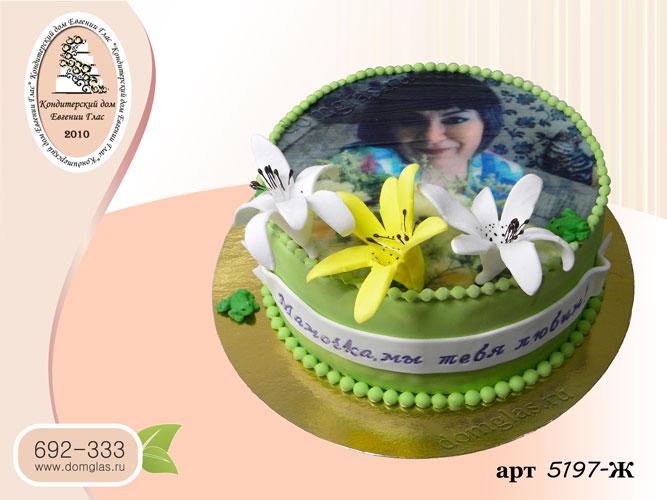 ж фото торт лилии