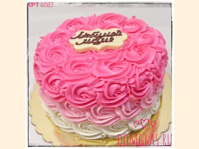 женский бело-розовый в цветочном оформлении