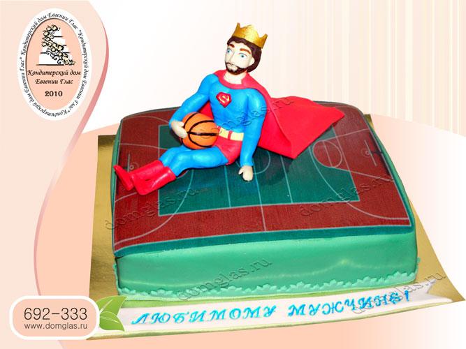 торт мужской супермен баскетбол