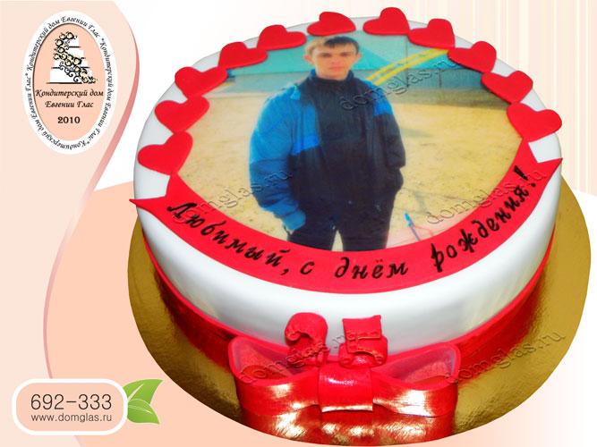 торт мужской фотопринт
