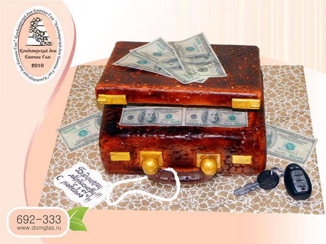 торт мужской чемодан деньги ключи