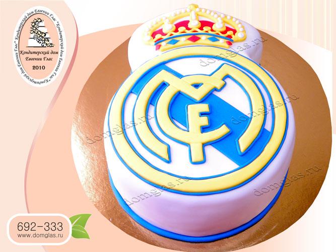 торт мужской логотип ФК реал мадрид