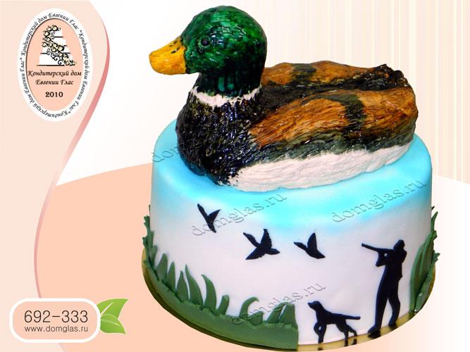 торт мужской утра 3Д охота