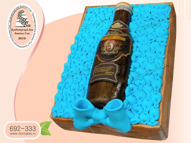 торт мужской бутылка коньяка