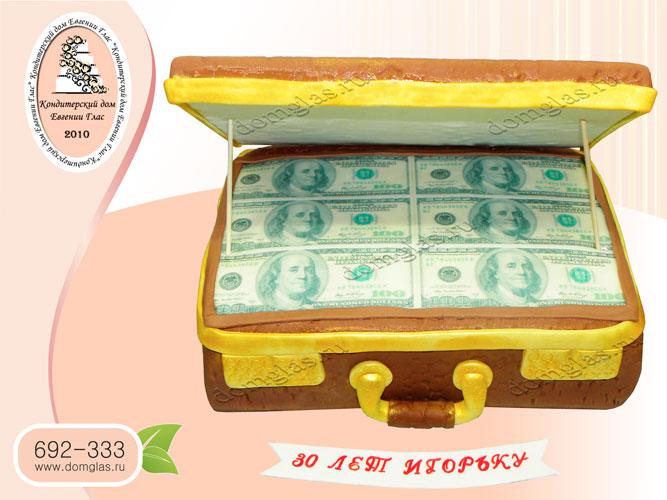 торт мужской чемодан с деньгами