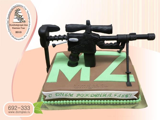 торт мужской винтовка