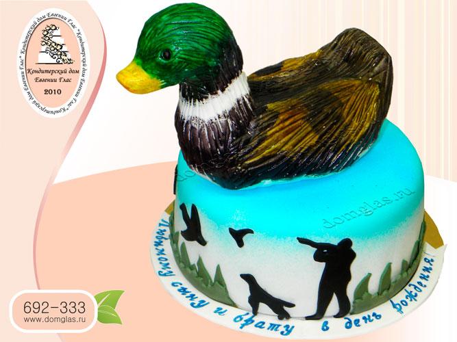 торт мужской утка охотнику