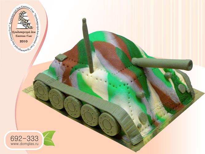 торт мужской танк 3Д