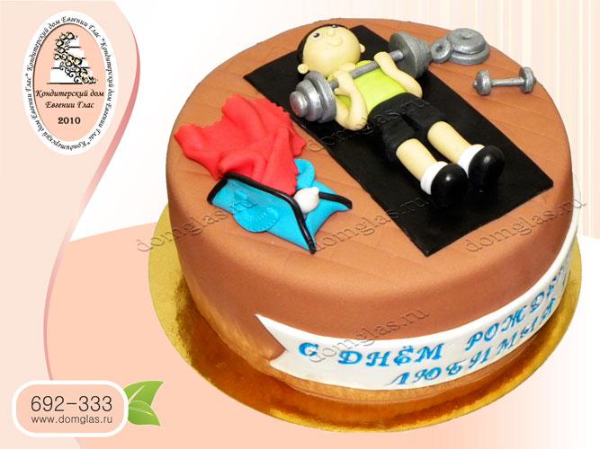 торт мужской спортсмен штангист