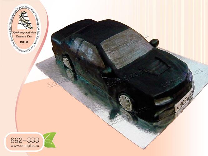 торт мужской машина автомобиль черный