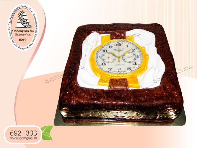 торт мужской часы в подарочной коробке