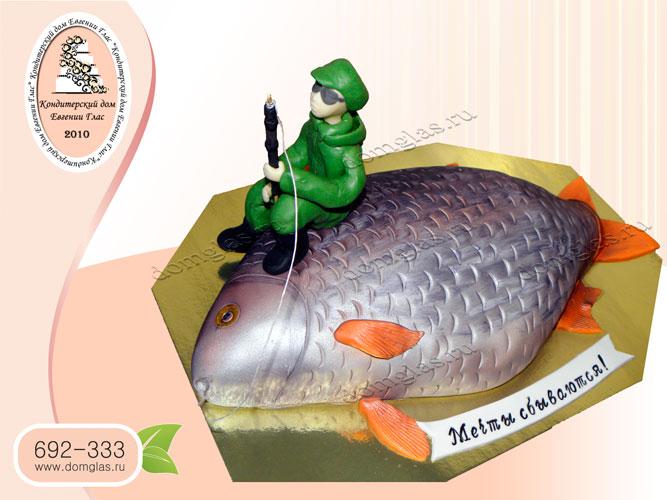 торт мужской рыбак рыба