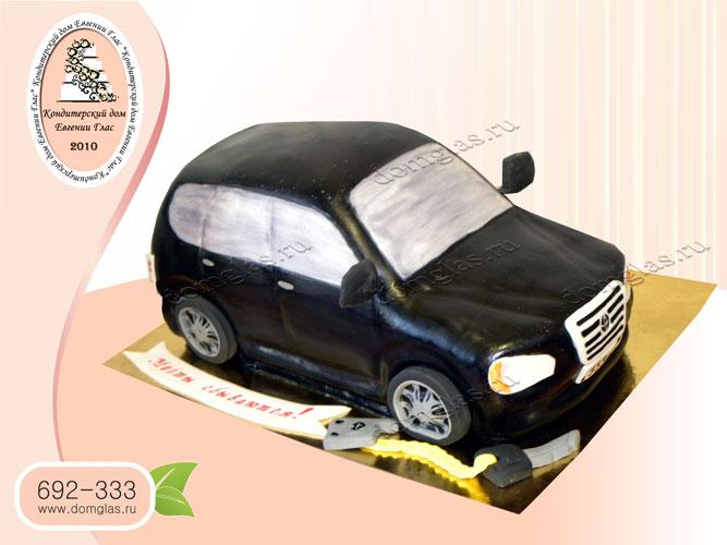 торт мужской автомобиль черный машина
