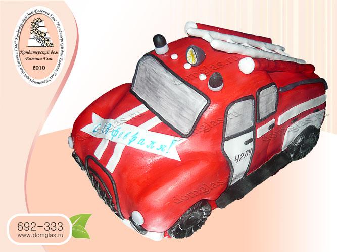 торт мужской пожарная машина