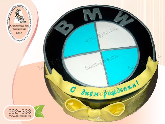 торт мужской эмблема bmw