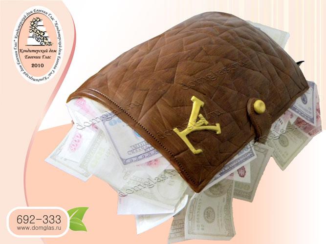 торт мужской бумажник деньги