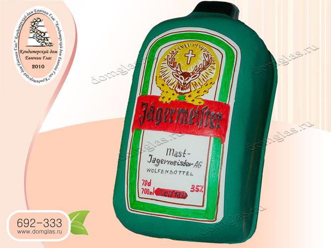 торт бутылка Егермейстер Jägermeister