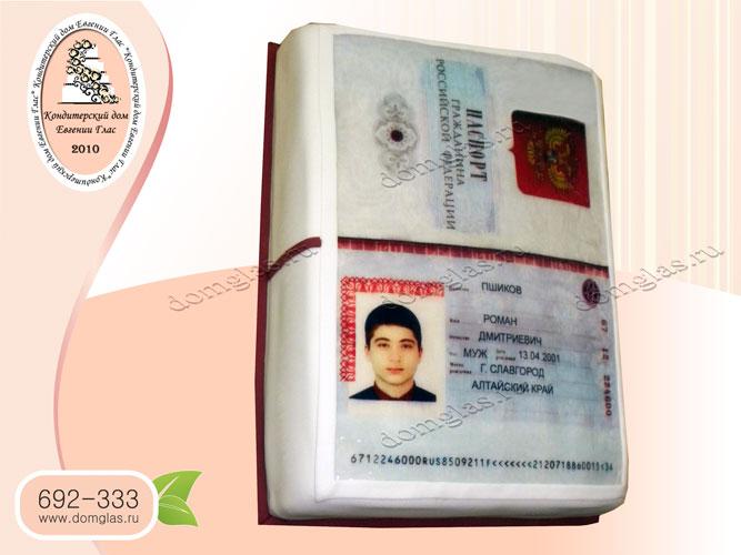торт паспорт фотопечать дизайн