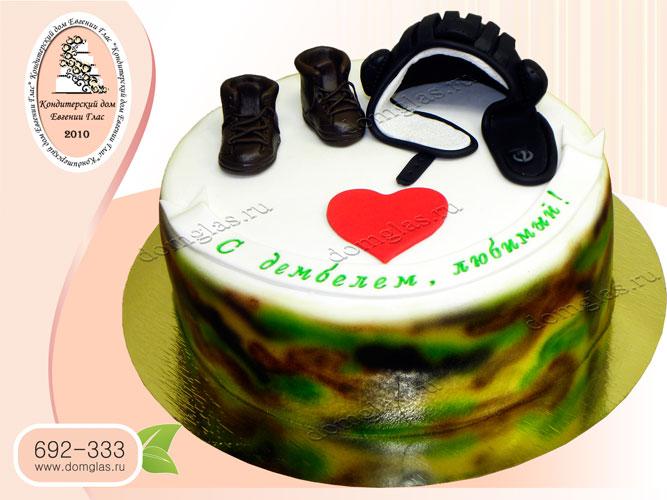 торт мужской шлем танкиста