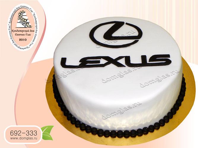 торт мужской эмблема лексус