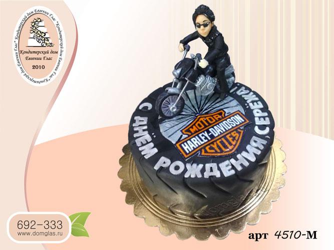 м торт колесо байкер на мотоцикле