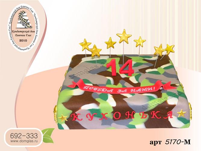 м торт камуфлированный звезды