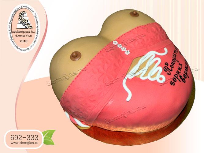 торт для взрослых грудь красный корсет