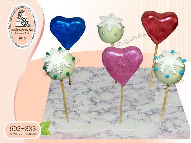 кейк попсы сердце шары